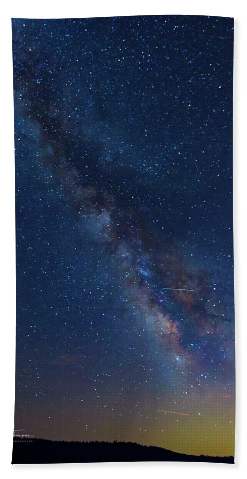 Alta Bath Sheet featuring the photograph The Milky Way 2 by Jim Thompson