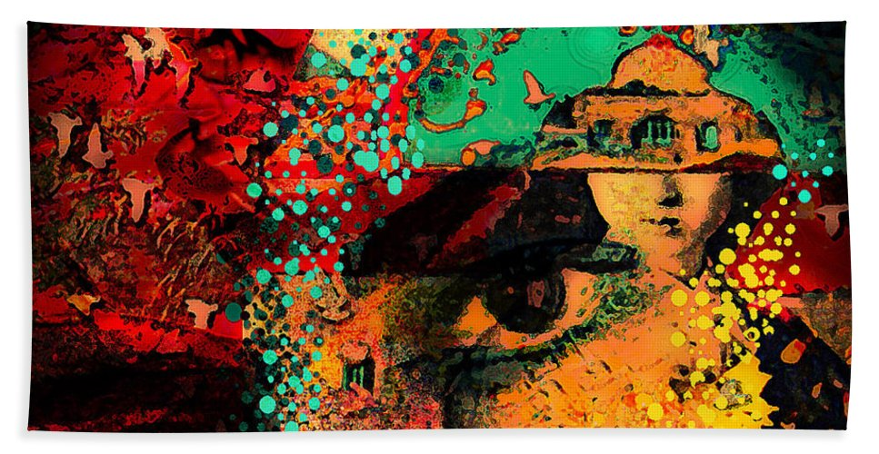 Eyes Hand Towel featuring the photograph The Mind's Eye by Jeff Burgess