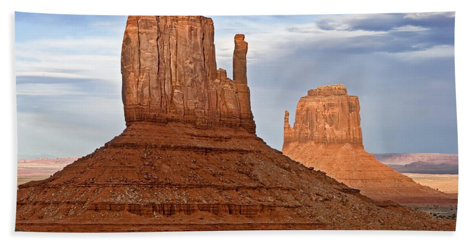 Arizona Hand Towel featuring the photograph The Mittens by Peter Tellone