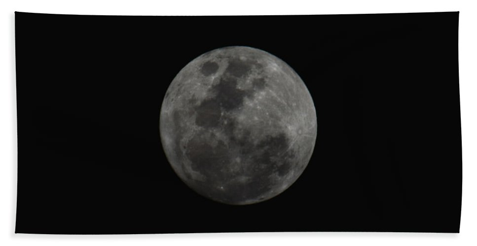 The Moon Hand Towel featuring the photograph The Moon - La Luna 10 by Totto Ponce