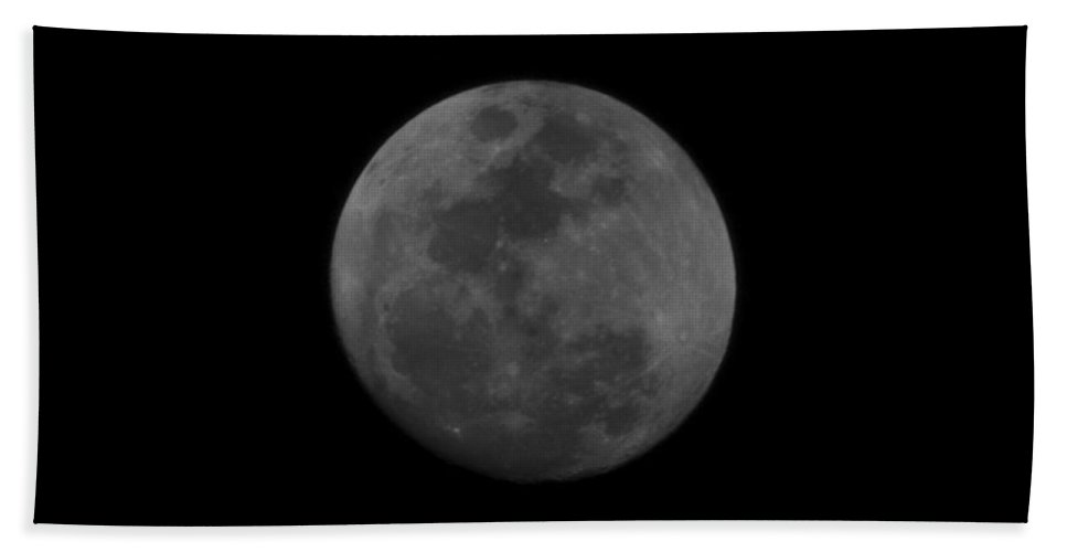 The Moon Hand Towel featuring the photograph The Moon - La Luna 3 by Totto Ponce