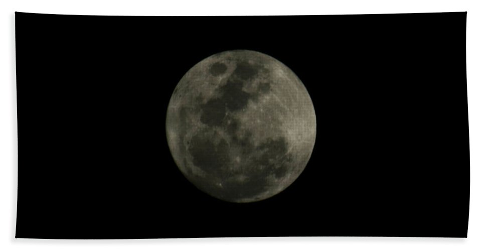 The Moon Hand Towel featuring the photograph The Moon - La Luna 5 by Totto Ponce