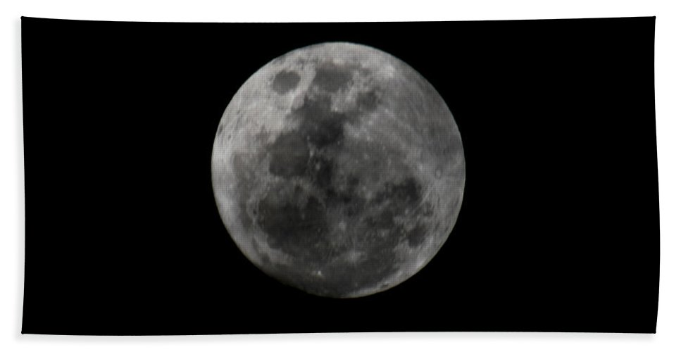 The Moon Hand Towel featuring the photograph The Moon - La Luna 7 by Totto Ponce