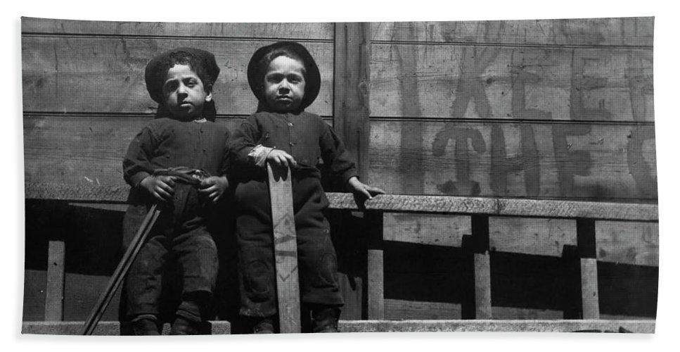 212654ad86f 1890c The Mott Street Boys Hand Towel featuring the painting The Mott  Street Boys by Jacob