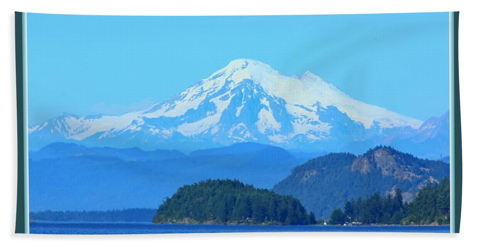 Mt. Baker Hand Towel featuring the photograph The Mountain by BYETPhotography