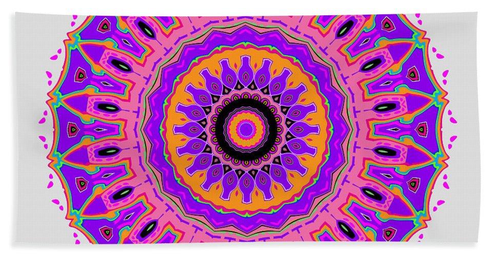 Digital Hand Towel featuring the digital art The Nancy Mandala by Joy McKenzie