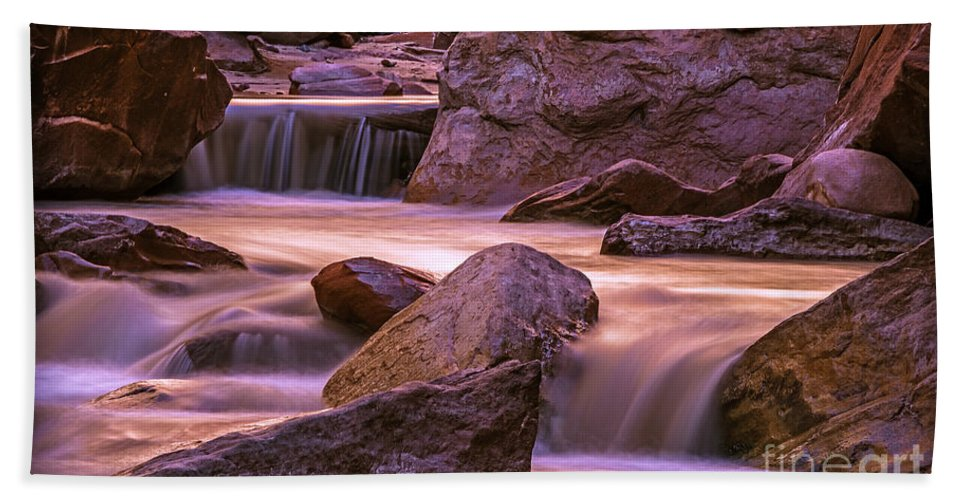 Narrows Hand Towel featuring the photograph The Narrows by Joseph Yvon Cote