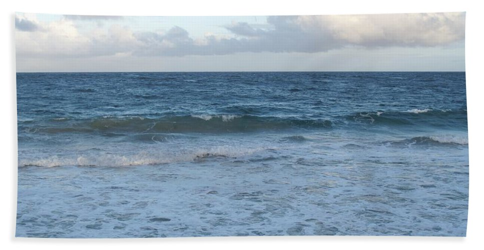 Surf Bath Sheet featuring the photograph The Next Wave by Ian MacDonald