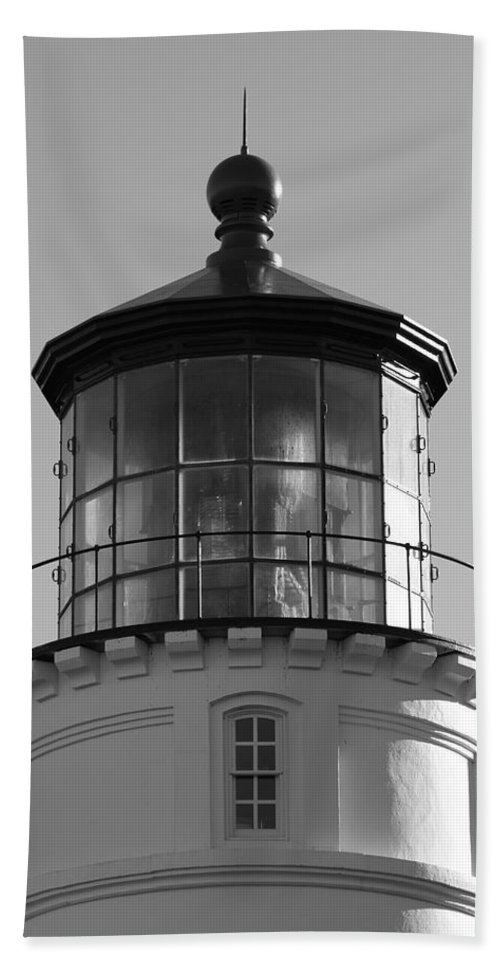 Lighthouse Hand Towel featuring the photograph The Night Light by Laddie Halupa
