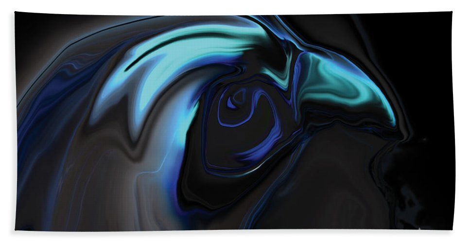 Birds Of Prey Hand Towel featuring the digital art The Nighthawk by Rabi Khan