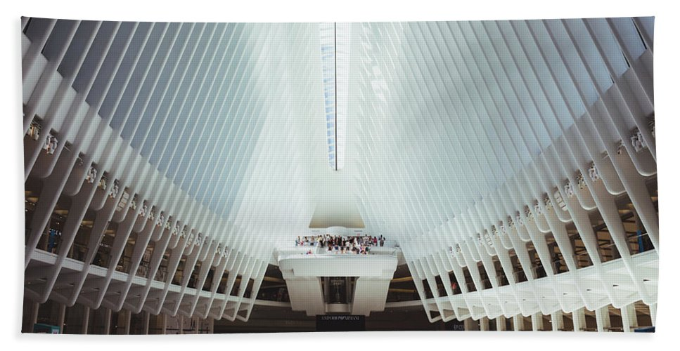 New York City Bath Sheet featuring the photograph The Oculus by Liam Nielsenshultz