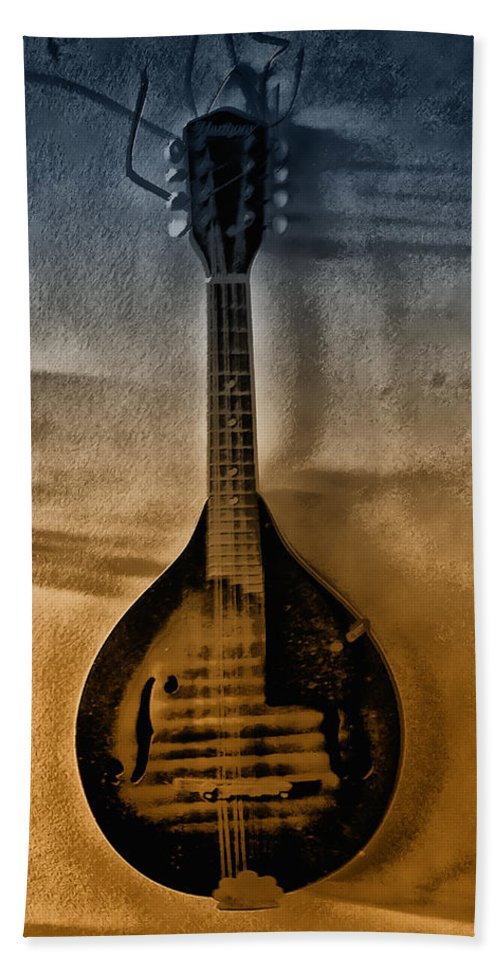 Mandolin Hand Towel featuring the photograph The Old Mandolin by Bill Cannon