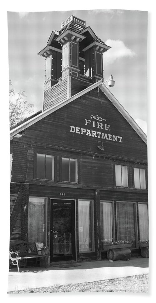 American West Hand Towel featuring the photograph The Old Ridgway Firehouse by Eric Glaser