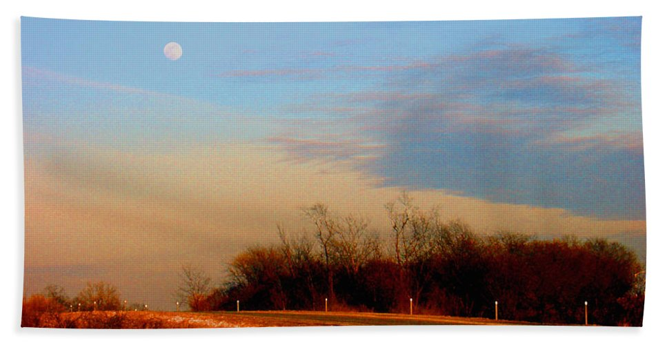 Landscape Bath Towel featuring the photograph The On Ramp by Steve Karol