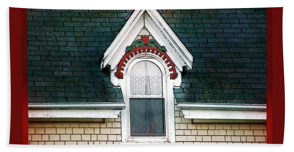 Canada Bath Sheet featuring the painting The Ornamented Gable by RC DeWinter