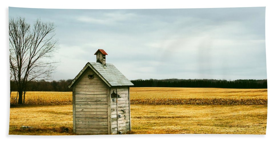 Outhouse Hand Towel featuring the photograph The Outhouse by Todd Klassy