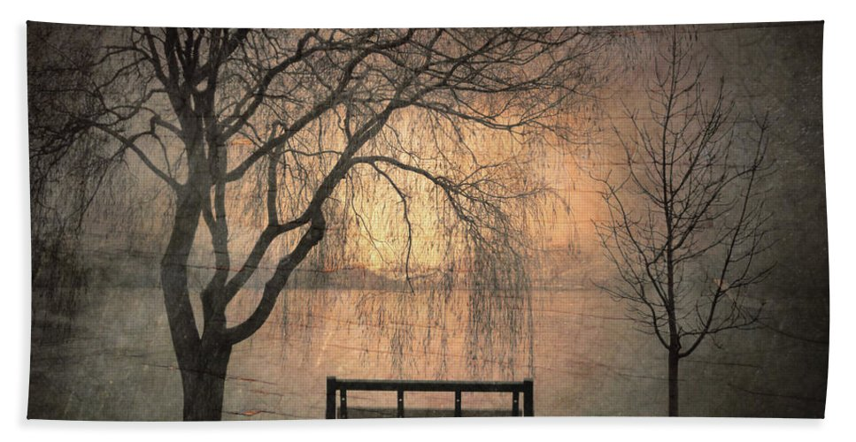 Bench Hand Towel featuring the photograph The Outlook by Tara Turner