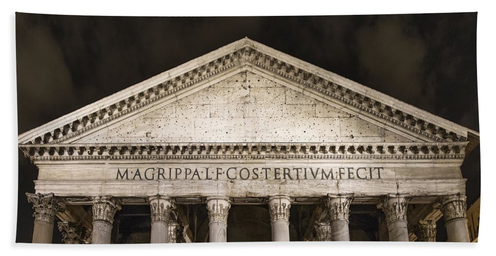 Augustus Hand Towel featuring the photograph The Pantheon by John Greim