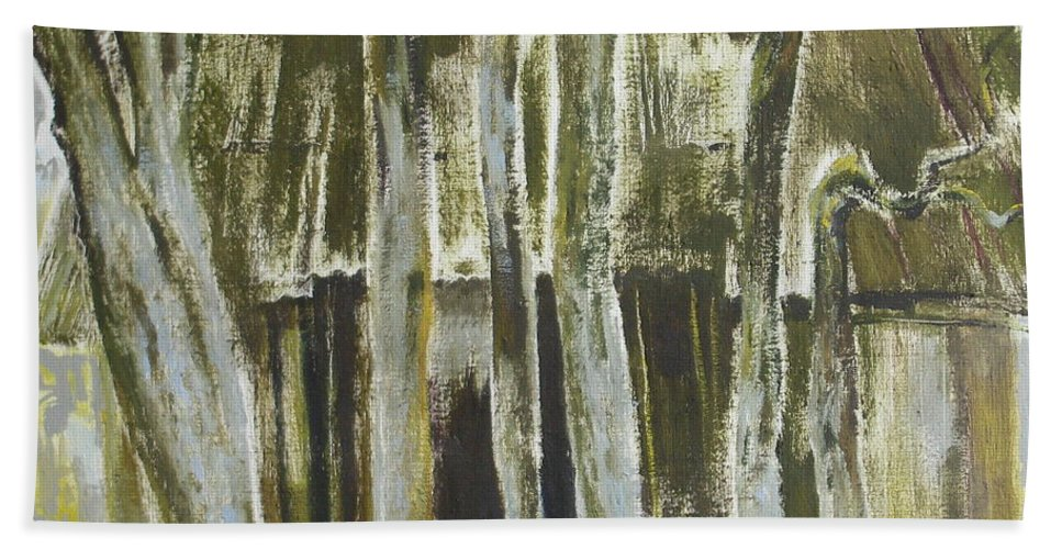 Oil Hand Towel featuring the painting The Past Space by Sergey Ignatenko