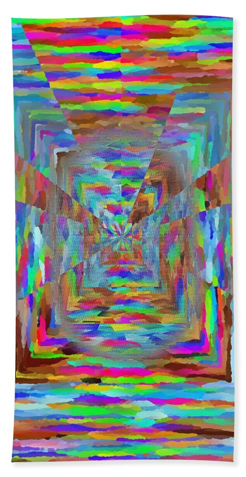 Abstract Bath Sheet featuring the digital art The Pathway by Tim Allen