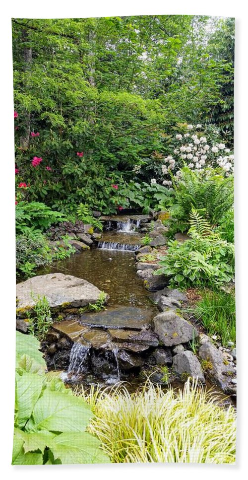 Botanical Floral Nature Bath Towel featuring the photograph The peaceful place 3 by Valerie Josi