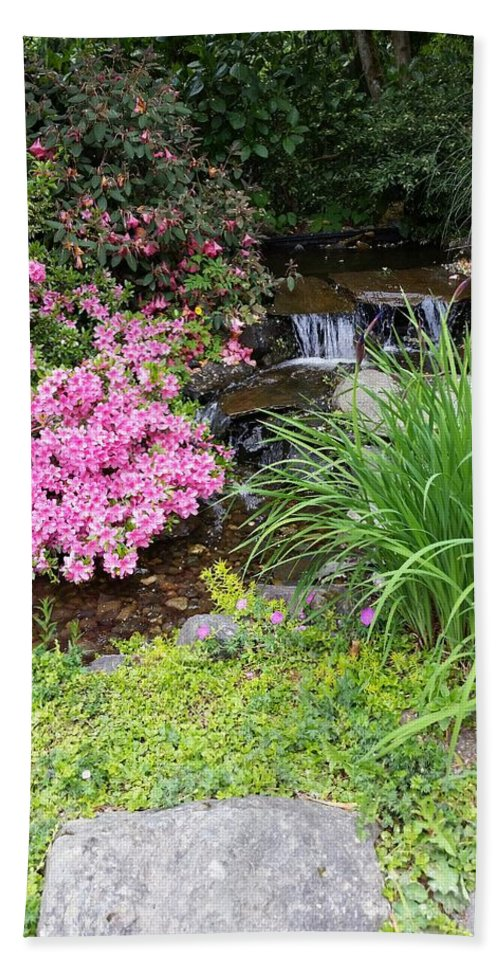 Garden Bath Sheet featuring the photograph The peaceful place by Valerie Josi