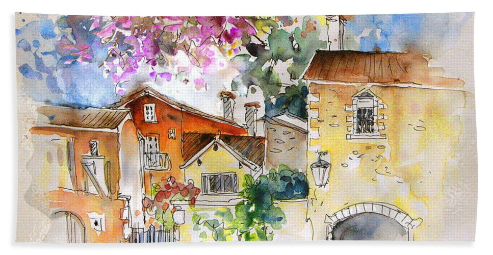 France Paintings Hand Towel featuring the painting The Perigord In France by Miki De Goodaboom