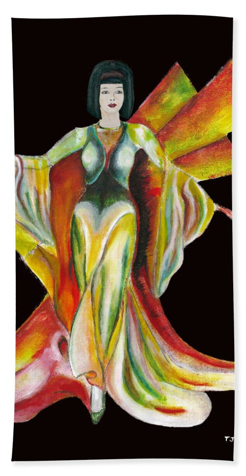 Dresses Hand Towel featuring the painting The Phoenix 2 by Tom Conway