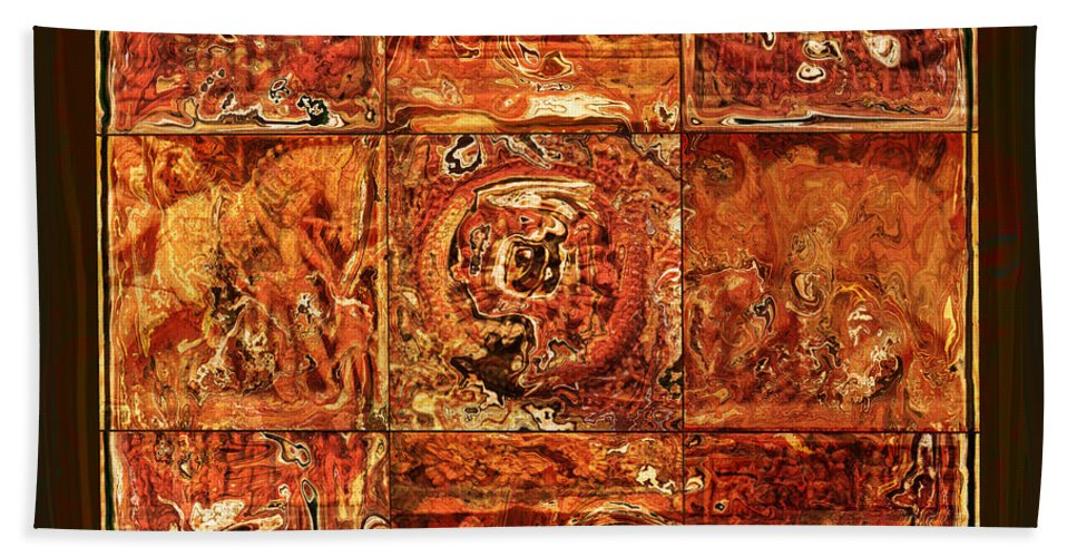 Bangladesh Hand Towel featuring the digital art The Pieces Of Heritage by Rabi Khan