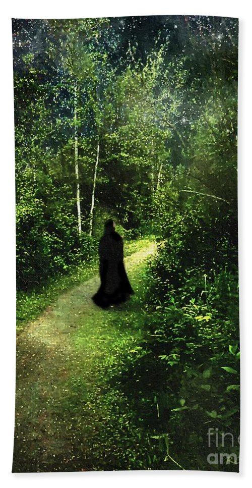 Forest Hand Towel featuring the painting The Pilgrimage by RC DeWinter
