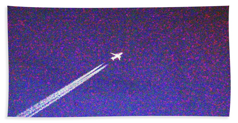 Airplane Hand Towel featuring the digital art The Plane by David Stasiak