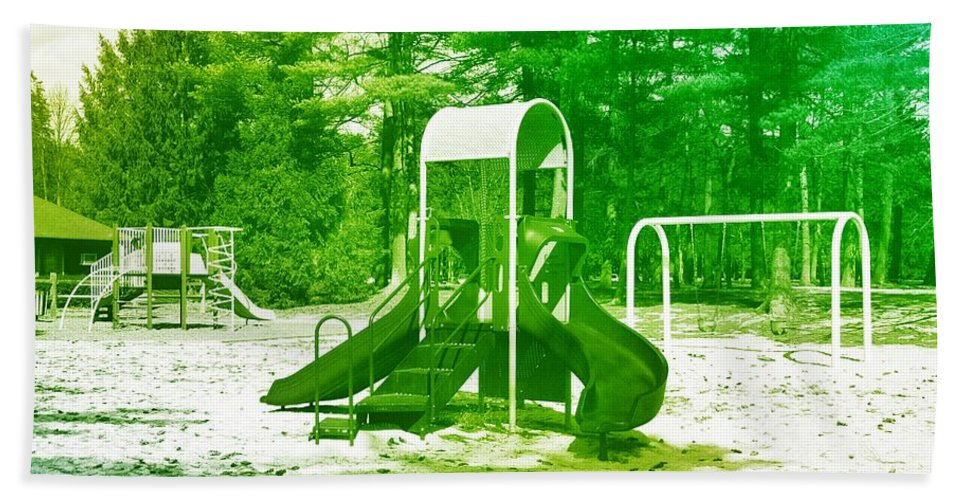 Playgrounds Hand Towel featuring the photograph The Playground I - Ocean County Park by Angie Tirado