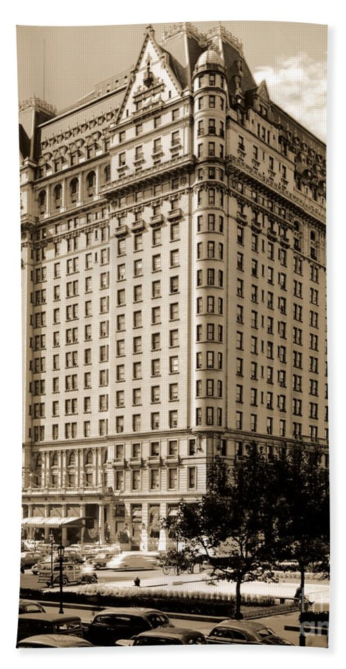 The Plaza Hotel Bath Sheet featuring the photograph The Plaza Hotel by Henry Janeway Hardenbergh