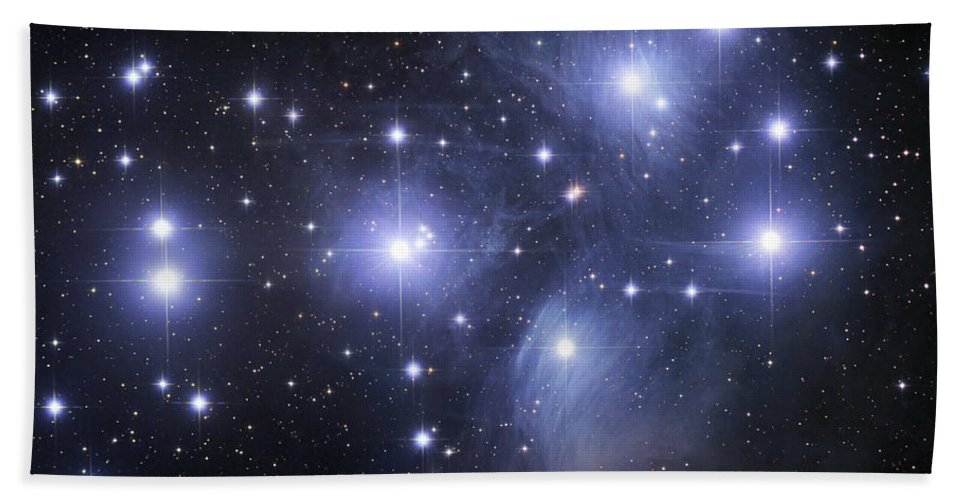 Astronomy Hand Towel featuring the photograph The Pleiades by Robert Gendler