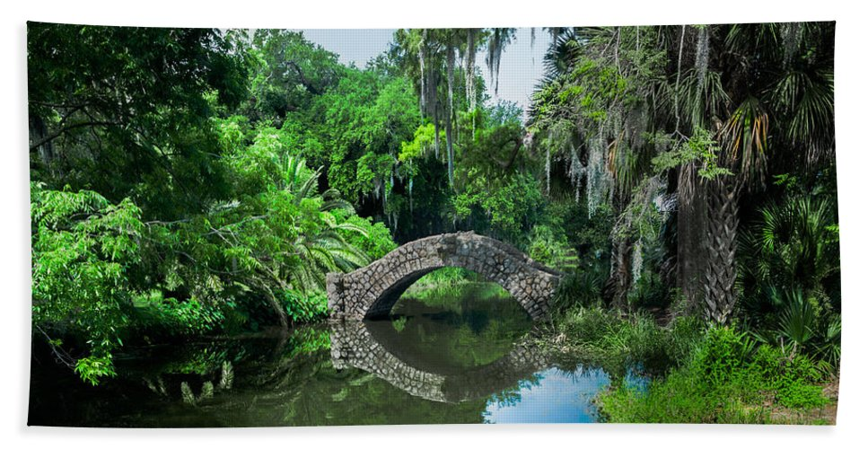 Pond Hand Towel featuring the photograph The Pond by Julie Craig