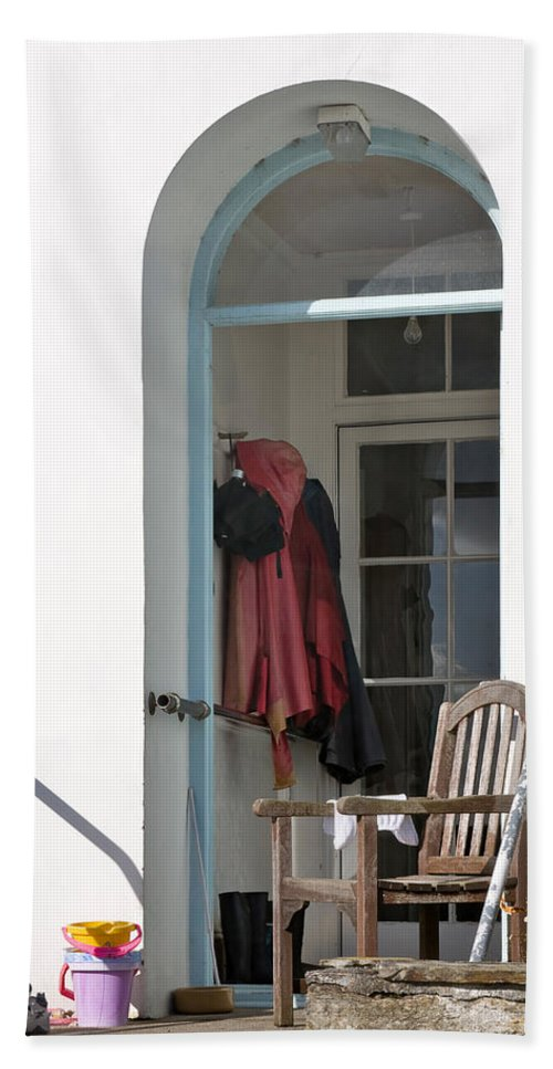 Travel Hand Towel featuring the photograph The Porch by Louise Heusinkveld