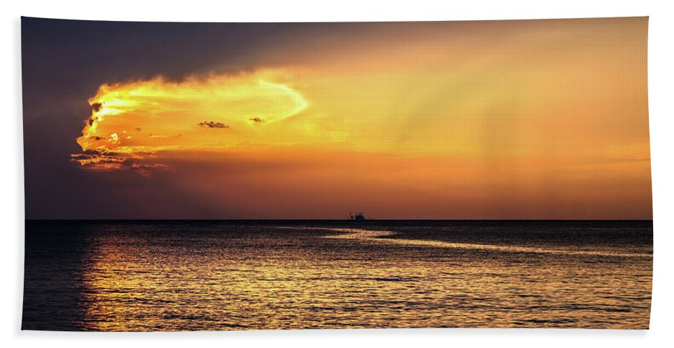 Sunset Hand Towel featuring the photograph The Portal by Fred Boehm