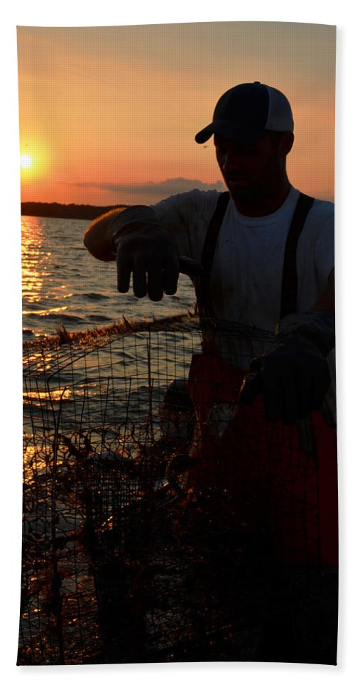 Crabber Hand Towel featuring the photograph The Potomac In Color by La Dolce Vita