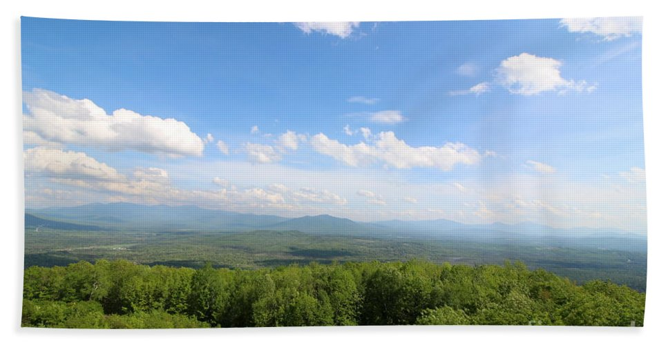 New Hampshire Hand Towel featuring the photograph The Presidential Range From The Watchtower At Weeks State Park by Neal Eslinger