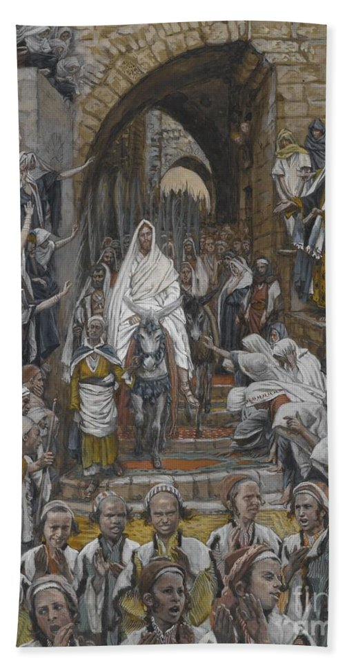 Tissot Bath Sheet featuring the painting The Procession In The Streets Of Jerusalem by Tissot