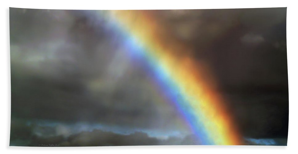 Rainbow Photography Hand Towel featuring the photograph The Promise II by Patricia Griffin Brett