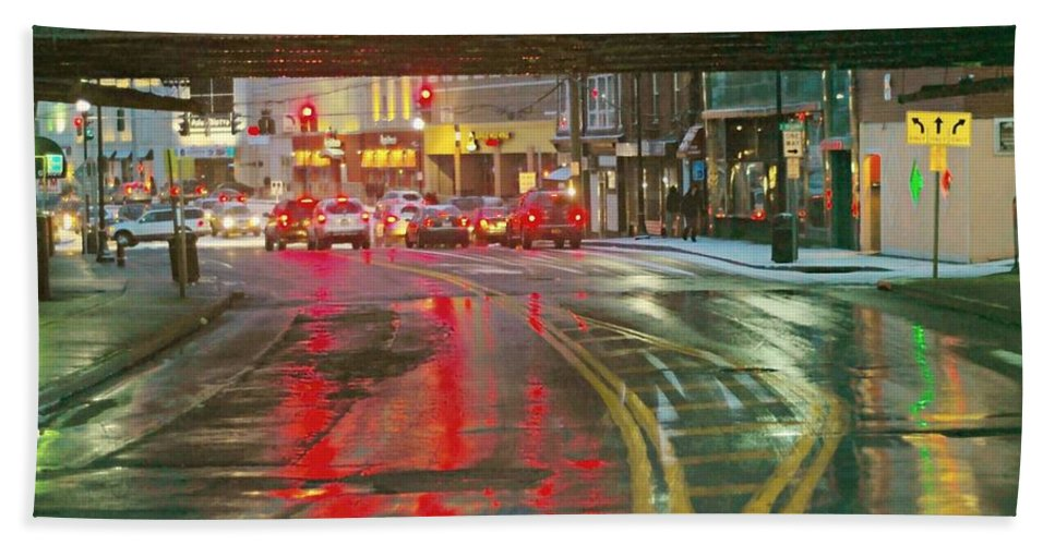 The Rain Painting Bath Sheet featuring the photograph The Rain Painting by Diana Angstadt