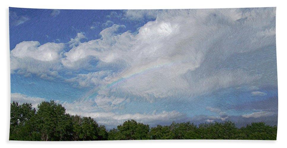 Rainbow Hand Towel featuring the photograph The Rainbow by Ernie Echols