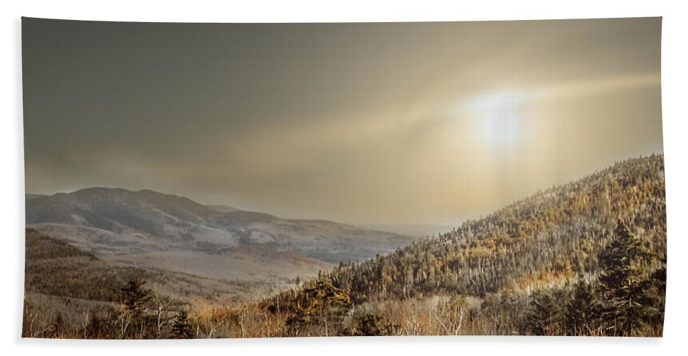 Scene Hand Towel featuring the photograph The Range, White Mountains by Debra Forand
