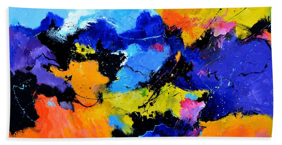 Abstract Hand Towel featuring the painting The rape of Proserpina by Pol Ledent