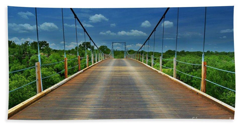 Regency Suspension Bridge Bath Sheet featuring the photograph The Regency Bridge 3 by Dennis Nelson