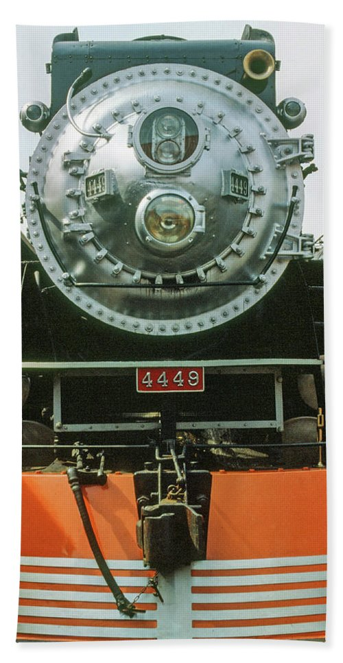 Fine Art Hand Towel featuring the photograph The Restored Southen Pacific Daylight Locomotive No. 4449 by Frank DiMarco