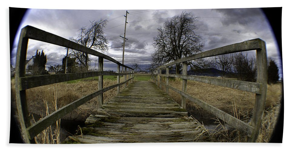 Art Hand Towel featuring the photograph The Rickity Bridge by Clayton Bruster