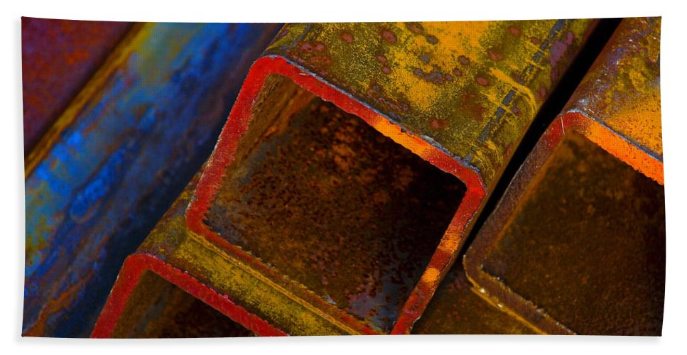 Abstract Bath Towel featuring the photograph The River by Skip Hunt