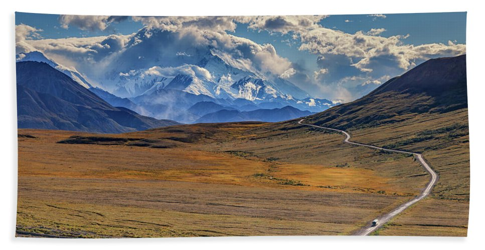 Alaska Hand Towel featuring the photograph The Road To Denali by Rick Berk